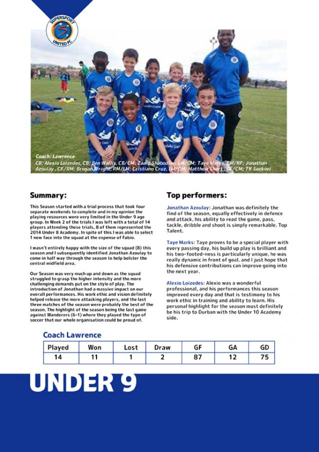 SSUSS Junior Academy Under 9